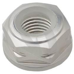0011 nut - silver ergal 7075 T6 - M10 P 1.25 (Lightech)