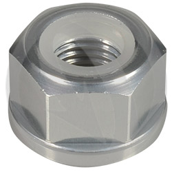 0011 nut - silver ergal 7075 T6 - M12 P 1.25 (Lightech)