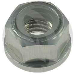 0011 nut - silver ergal 7075 T6 - M6 (Lightech)