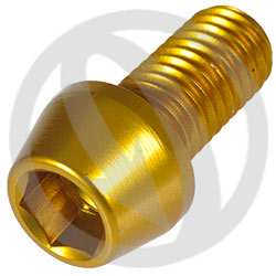 001 bolt - gold ergal 7075 T6 - M10 x 20 P 1.50 (Lightech)
