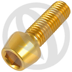 001 bolt - gold ergal 7075 T6 - M10 x 30 P 1.50 (Lightech)
