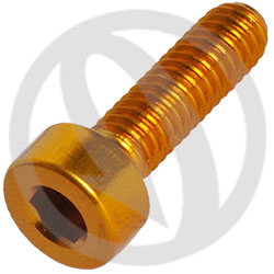 001 bolt - gold ergal 7075 T6 - M4 x 15 (Lightech)