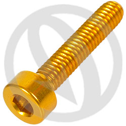 001 bolt - gold ergal 7075 T6 - M4 x 20 (Lightech)