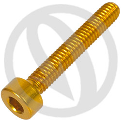 001 bolt - gold ergal 7075 T6 - M4 x 25 (Lightech)