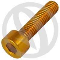 001 bolt - gold ergal 7075 T6 - M4 x 30 (Lightech)