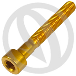 001 bolt - gold ergal 7075 T6 - M5 x 35 (Lightech)