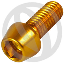 001 bolt - gold ergal 7075 T6 - M6 x 15 (Lightech)