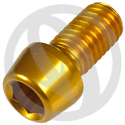 001 bolt - gold ergal 7075 T6 - M8 x 15 (Lightech)