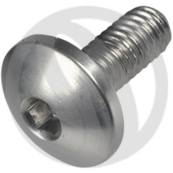 002 bolt - silver ergal 7075 T6 - M4 x 10 (Lightech)