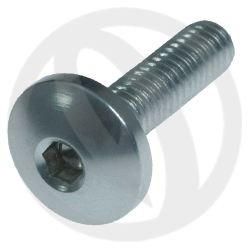 002 bolt - silver ergal 7075 T6 - M4 x 15 (Lightech)