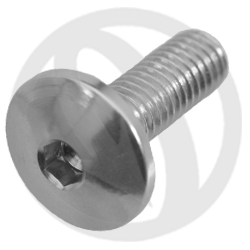 002 bolt - silver ergal 7075 T6 - M5 x 15 (Lightech)
