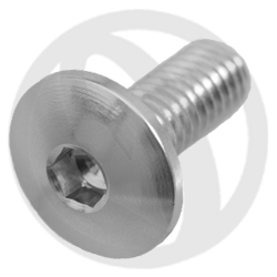002 bolt - silver ergal 7075 T6 - M6 x 15 (Lightech)