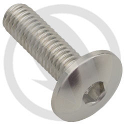 002 bolt - silver ergal 7075 T6 - M6 x 20 (Lightech)
