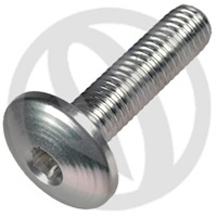 002 bolt - silver ergal 7075 T6 - M6 x 25 (Lightech)