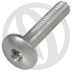 002 bolt - silver ergal 7075 T6 - M6 x 30 (Lightech)