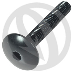 003 bolt - black ergal 7075 T6 - M5 x 30 | Lightech