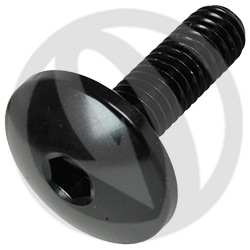 003 bolt - black ergal 7075 T6 - M6 x 20 | Lightech