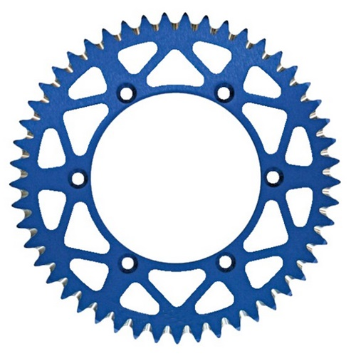EC blue rear sprocket - 49 teeth - pitch 520 | Chiaravalli | stock pitch