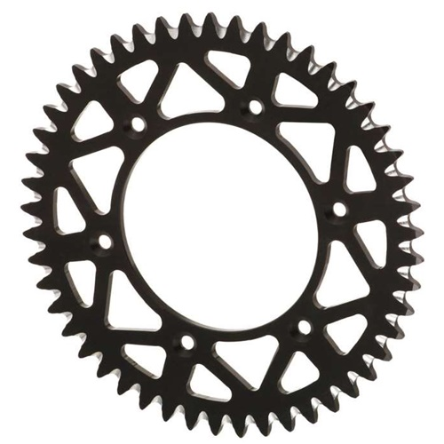 EC black rear sprocket - 52 teeth - pitch 520 | Chiaravalli | stock pitch