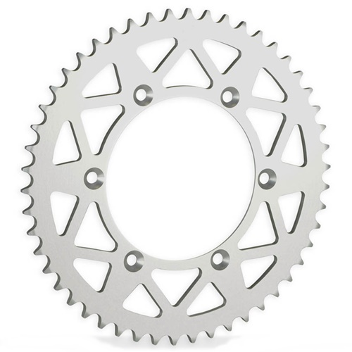 E silver rear sprocket - 51 teeth - pitch 420 | Chiaravalli | stock pitch