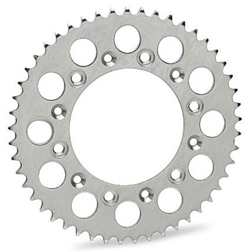 E silver rear sprocket - 52 teeth - pitch 420 | Chiaravalli | stock pitch