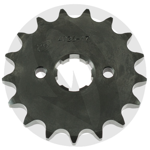 K front sprocket - 17 teeth - pitch 428 | Chiaravalli | stock pitch