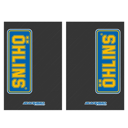 Couple of Ohlins carbon fork stickers | left + right | Blackbird Racing