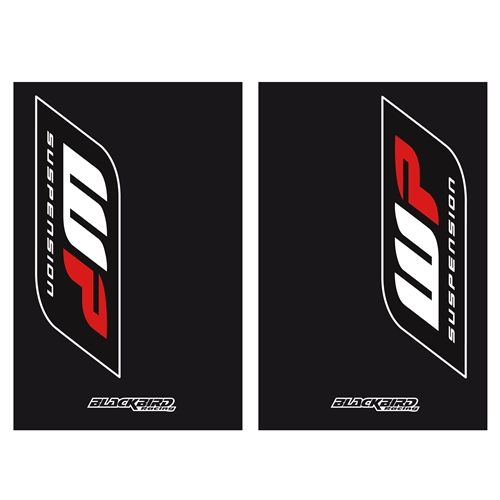 Couple of WP black fork stickers | left + right | Blackbird Racing