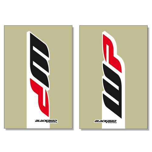 Couple of WP transparent fork stickers | left + right | Blackbird Racing