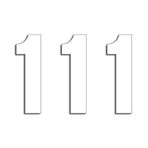1 small white digits