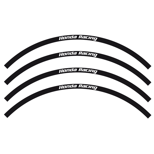 Black Honda Racing stickers set for off-road rims (Blackbird Racing)