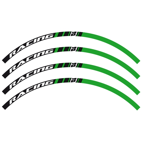 Green stickers set for off-road rims (Blackbird Racing)