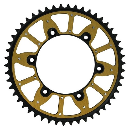 X-Race gold rear sprocket - 48 teeth - pitch 520 | Chiaravalli | stock pitch