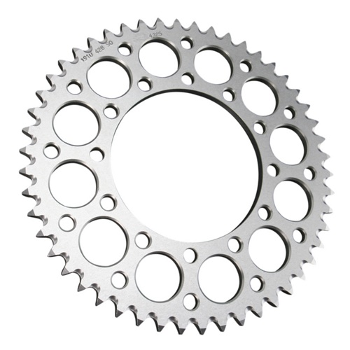 EC silver rear sprocket - 53 teeth - pitch 520 | Chiaravalli | stock pitch