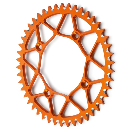 EC orange rear sprocket - 52 teeth - pitch 520 | Chiaravalli | stock pitch