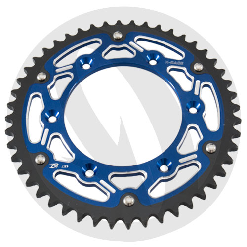 X-Race blue rear sprocket - 52 teeth - pitch 520 | Chiaravalli | stock pitch