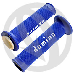 Blue / white road racing grips (Domino)
