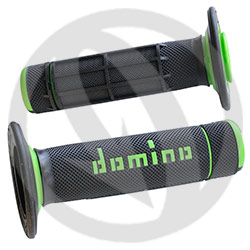 Couple of black / green grips (Domino)