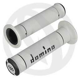 Couple of white / black grips (Domino)
