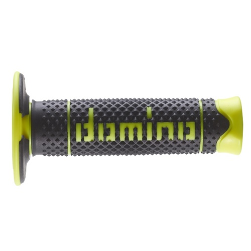 Couple of DSH black / fluo yellow grips (Domino)
