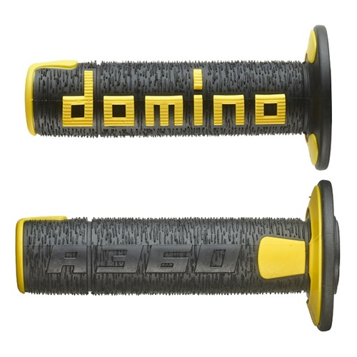 Couple of A360 black / yellow grips (Domino)