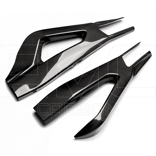 Couple of swingarm guards | glossy carbon