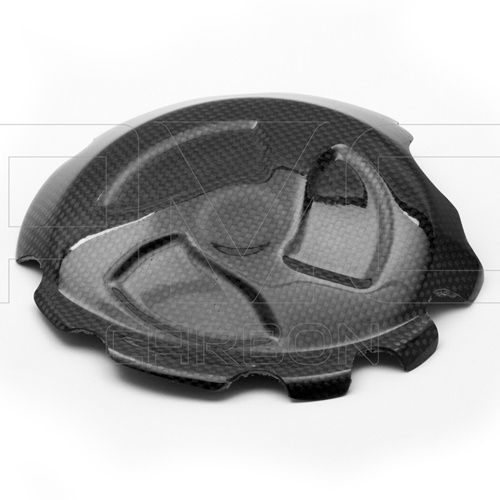 Clutch cover guard (glossy carbon)