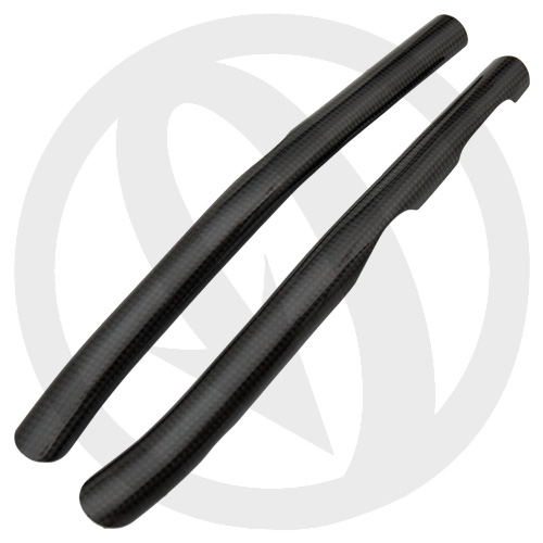 2M Gas Gas frame guards (glossy carbon)