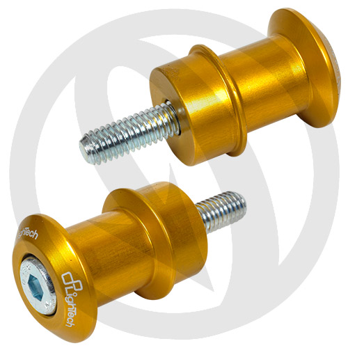 Gold swing-arm cotton reels