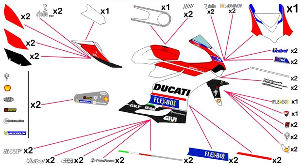 Stickers replica Ducati MotoGP 2017 (race)