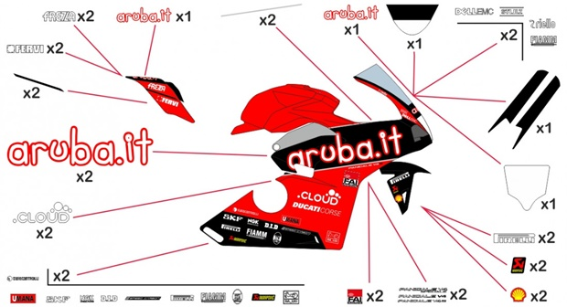 Stickers replica Ducati Aruba SBK 2019 (race)