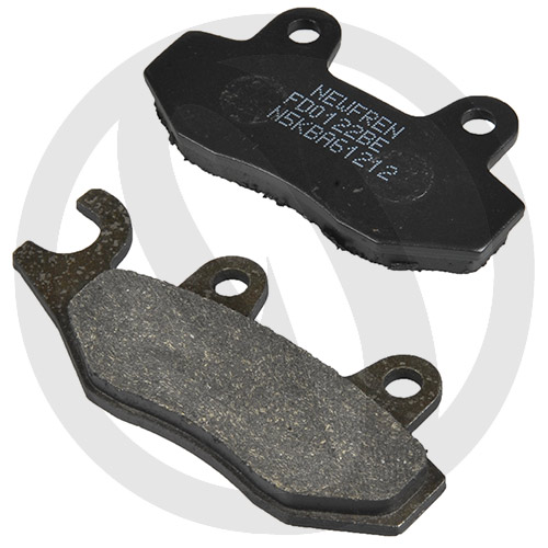Couple of Newfren Scooter Elite Organic BE brake pads (right front)