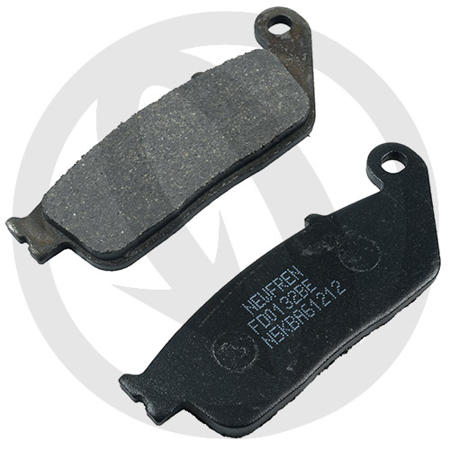 Couple of Newfren Scooter Elite Organic BE brake pads (front)