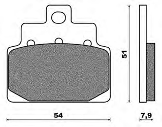 Couple of Scooter Active Organic BA brake pads (front)